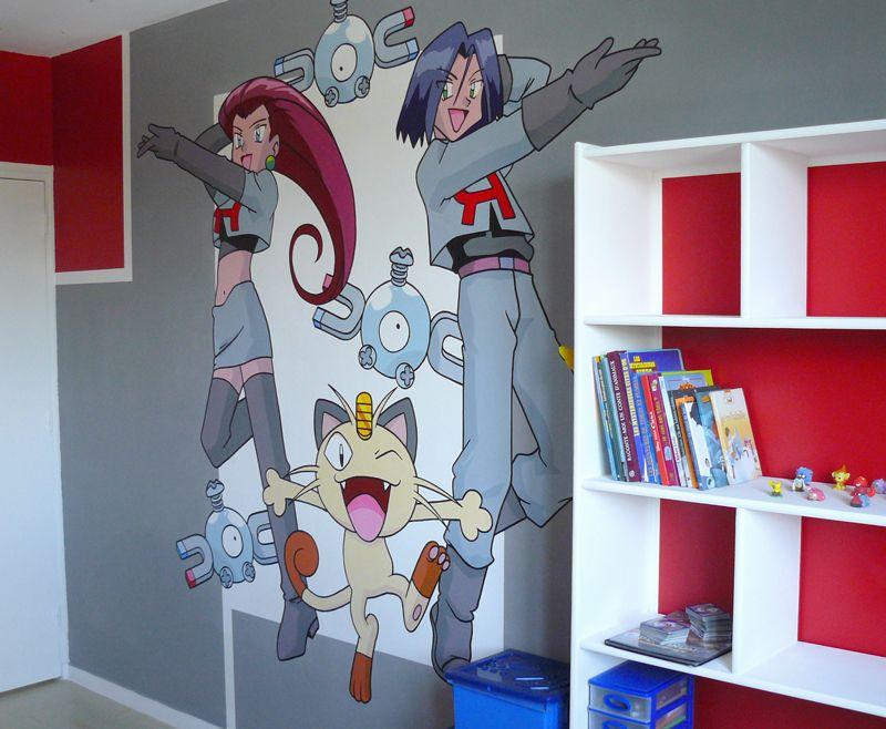 GraffitiDéco Chambre Déco Pokémon Deco Chambre Enfant - Eiffel chambre de la tour des idees de decoration