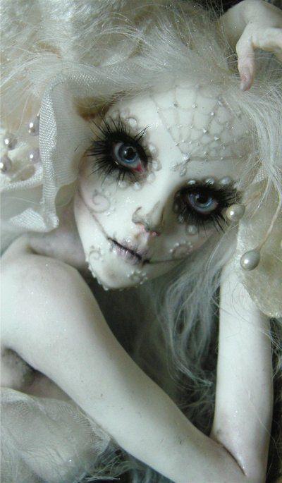 Sugar skull Fall Ideas Pinterest Dia de, deviantART and Makeup - scary halloween ideas