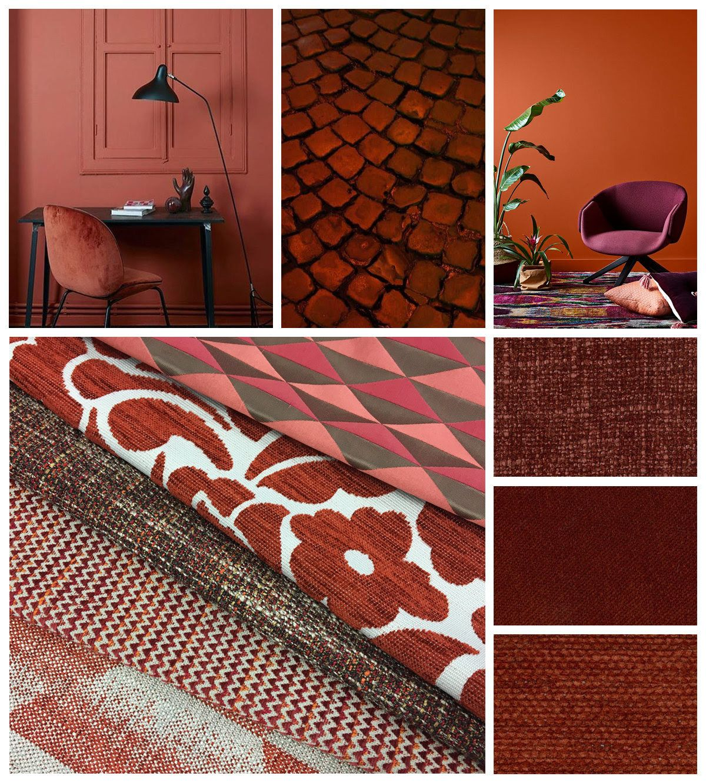 Warwick Fabrics winter colours - Brick