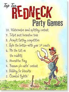 Birthday Card Redneck Party Games Crash Cooper 10892