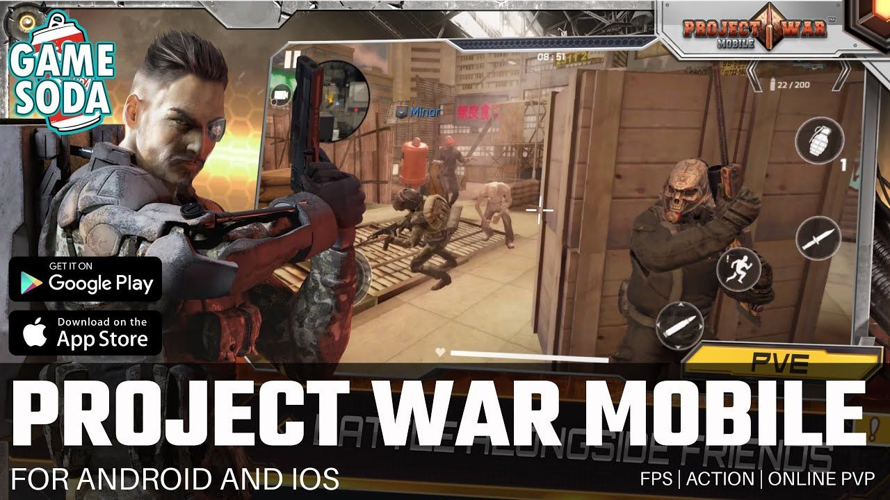 Project War Mobile FPS Gameplay for Android and iOS