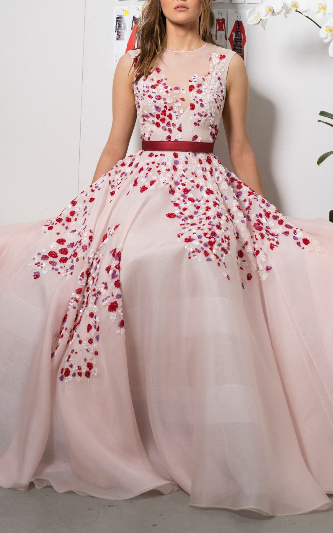 Embroidered Organza Ball Gown by Bibhu Mohapatra   estilo ...