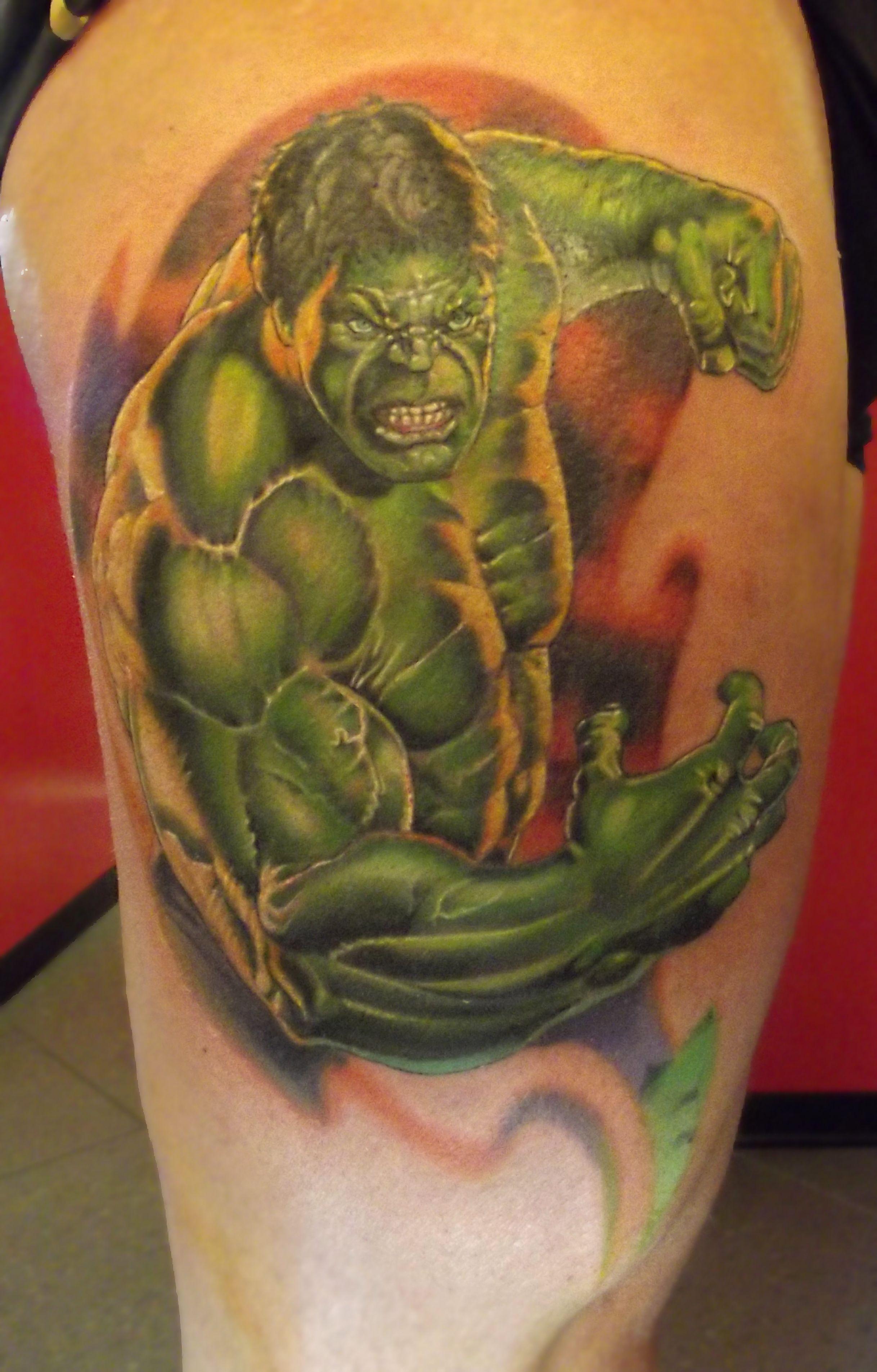 www.ettore-bechis.com Best Miami tattoo shop Hulk Tattoo by Ettore ...
