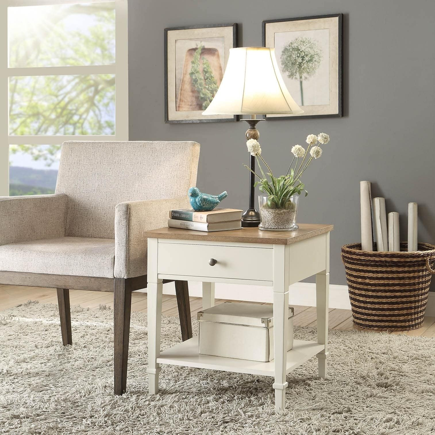 Fantastic Legacy Tevoli White Wood Side Table Products Sofa End Camellatalisay Diy Chair Ideas Camellatalisaycom