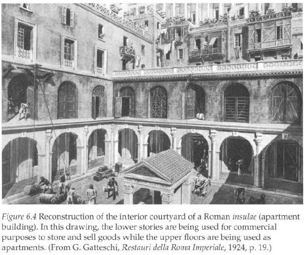 roman architecture living in an insula The housing of the poor - insulae  1 overview of roman housing roman houses fall into three main types: the insula, the domus and the villa the insulae (apartment buildings) were found in main cities such as rome where there was a  but when discussing the architecture in these towns, the term insula is used in its more accurate sense to refer to a block of land bounded by streets examples of the domus (single family accommodation) are plentiful in pompeii and allow us to examine.