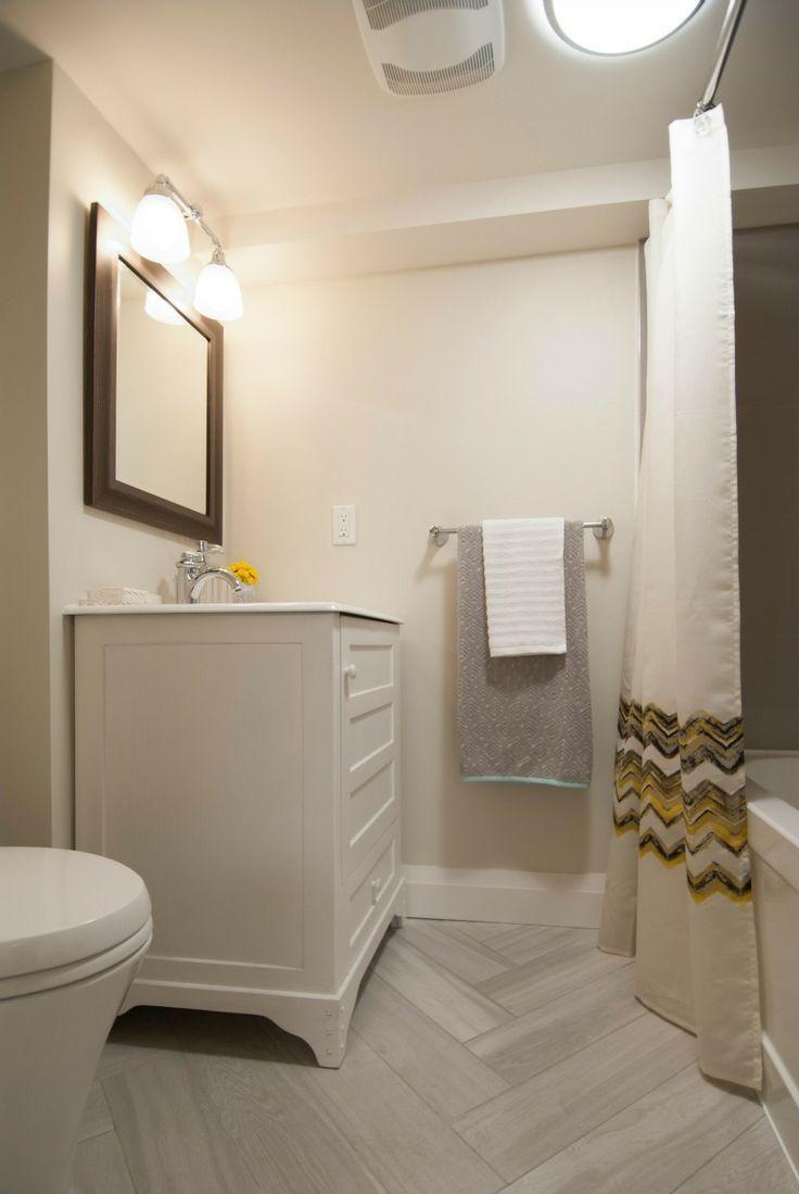 Bathroom cool white basement bathroom decoration using light cream like the floor tiles basement bathroom income property doublecrazyfo Image collections