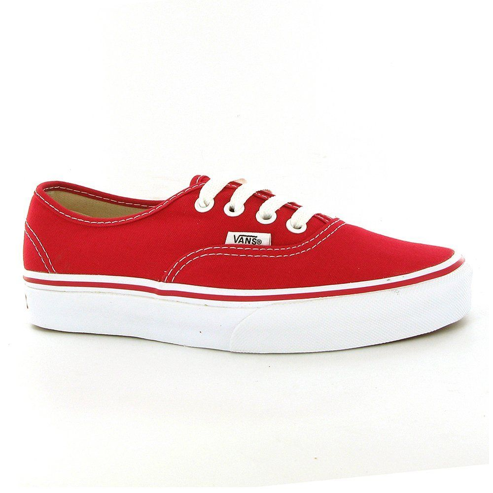 Vans Classic Authentic Red Womens Trainers Size US