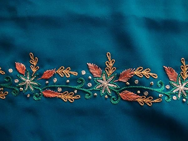 Designs For Aari Hand Embroidery Old New Sample 159 Saree Border