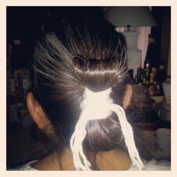 My First Attempt At A Navajo Bun On My Mom Long Hair Dos Hair Styles Hair Beauty