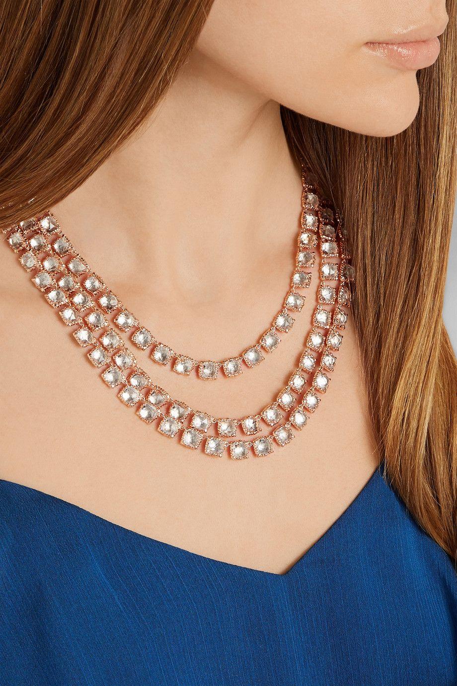 Larkspur & Hawk | Antoinette Rivière rose gold-dipped topaz necklace | NET-A-PORTER.COM
