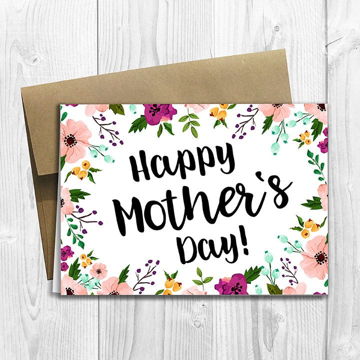 Floral Watercolor Happy Mother's Day