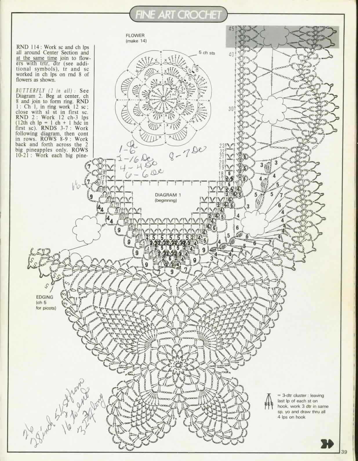 Pin By Mnica Garca Baena On Patrones Pinterest Crochet Doily Diagram 2 Patterns N2