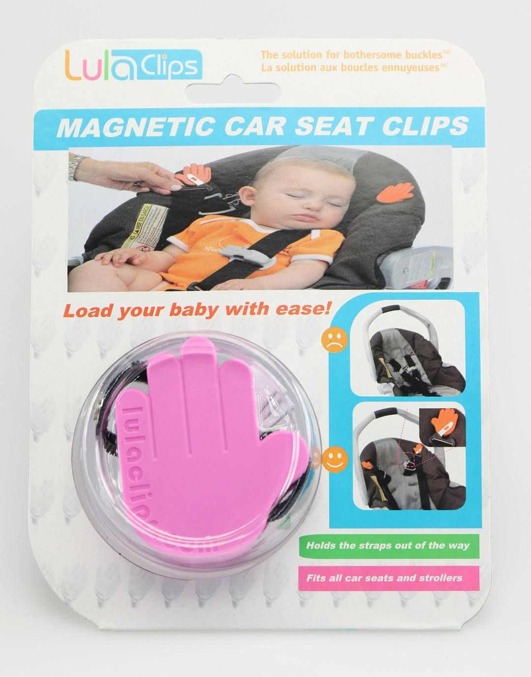 LulaClips Car Seat Clips Pink Car seat clip