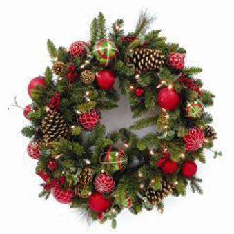 traditional christmas wreath - Google Search prelit | Wreaths ...