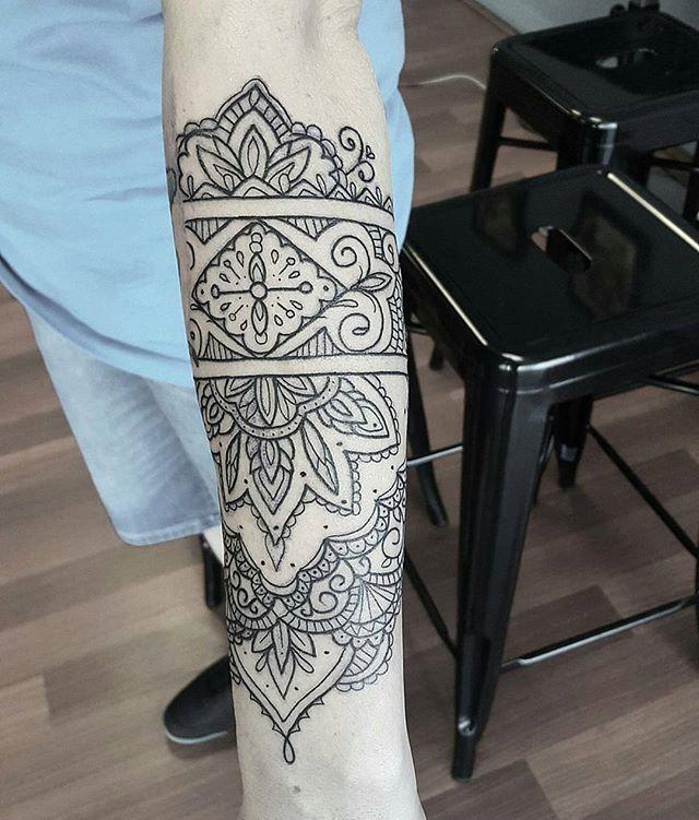 Wrist Cuff Lace Mandala Mehndi: An Ornamental / Mandala Forearm Cuff Tattoo By Eloise