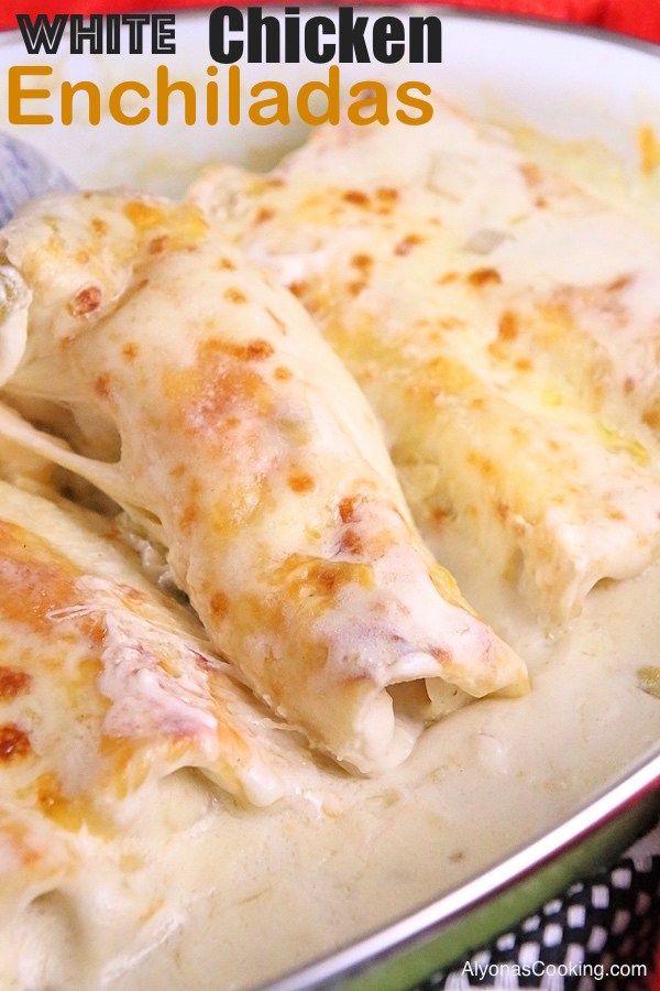 White Chicken Enchiladas Recipe Delisshh Pinterest Chicken