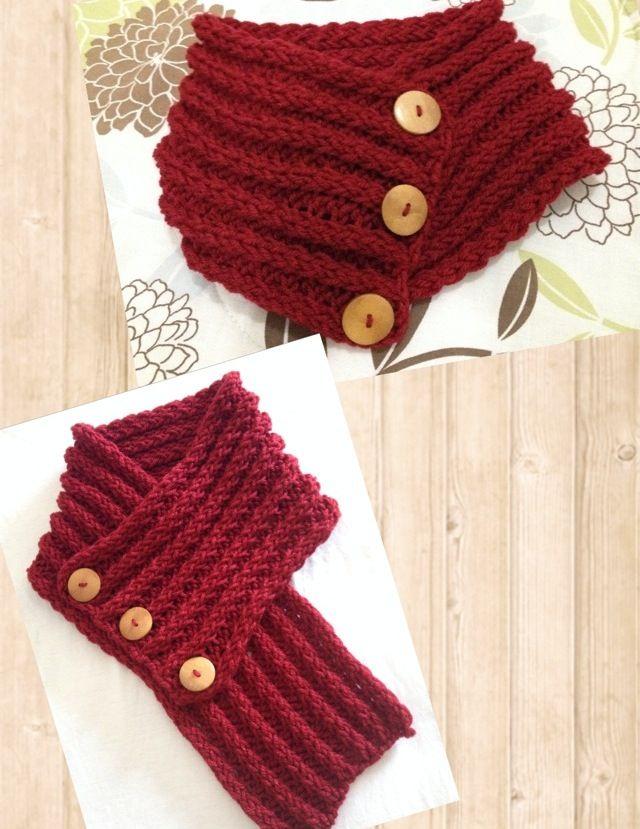 Bufanda corinta corta con botones #2 | Crochet | Pinterest | Botones ...