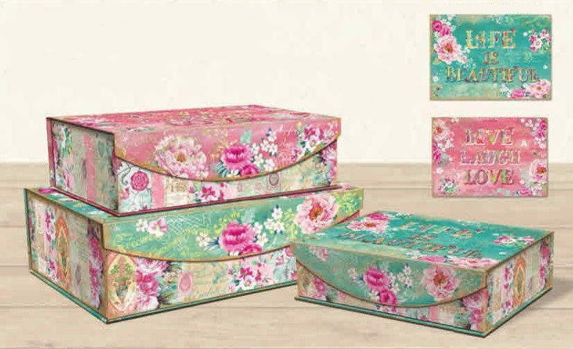 Lovely Letters Large Decorative Nested Boxes