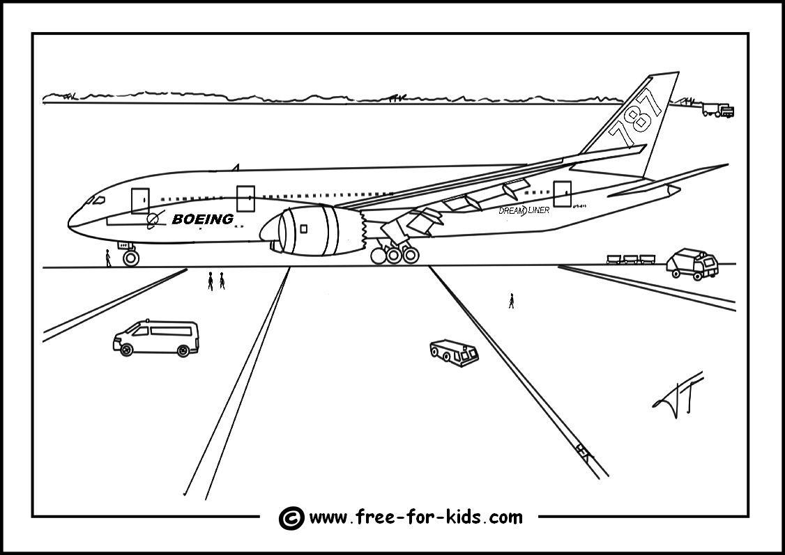 Aeroplane Colouring Pages in 2020 Airplane coloring