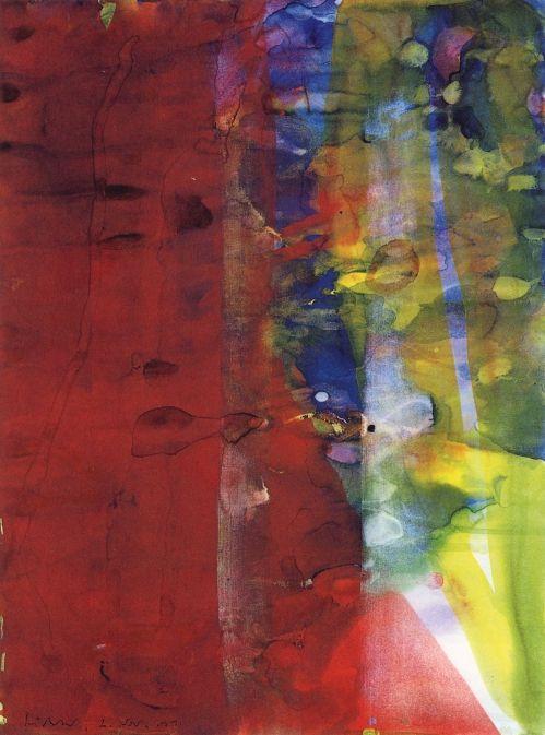 Gerhard Richter, Sans titre, (2.11.1990), 39.5 cm x 29.5 cm, Aquarelle sur papier