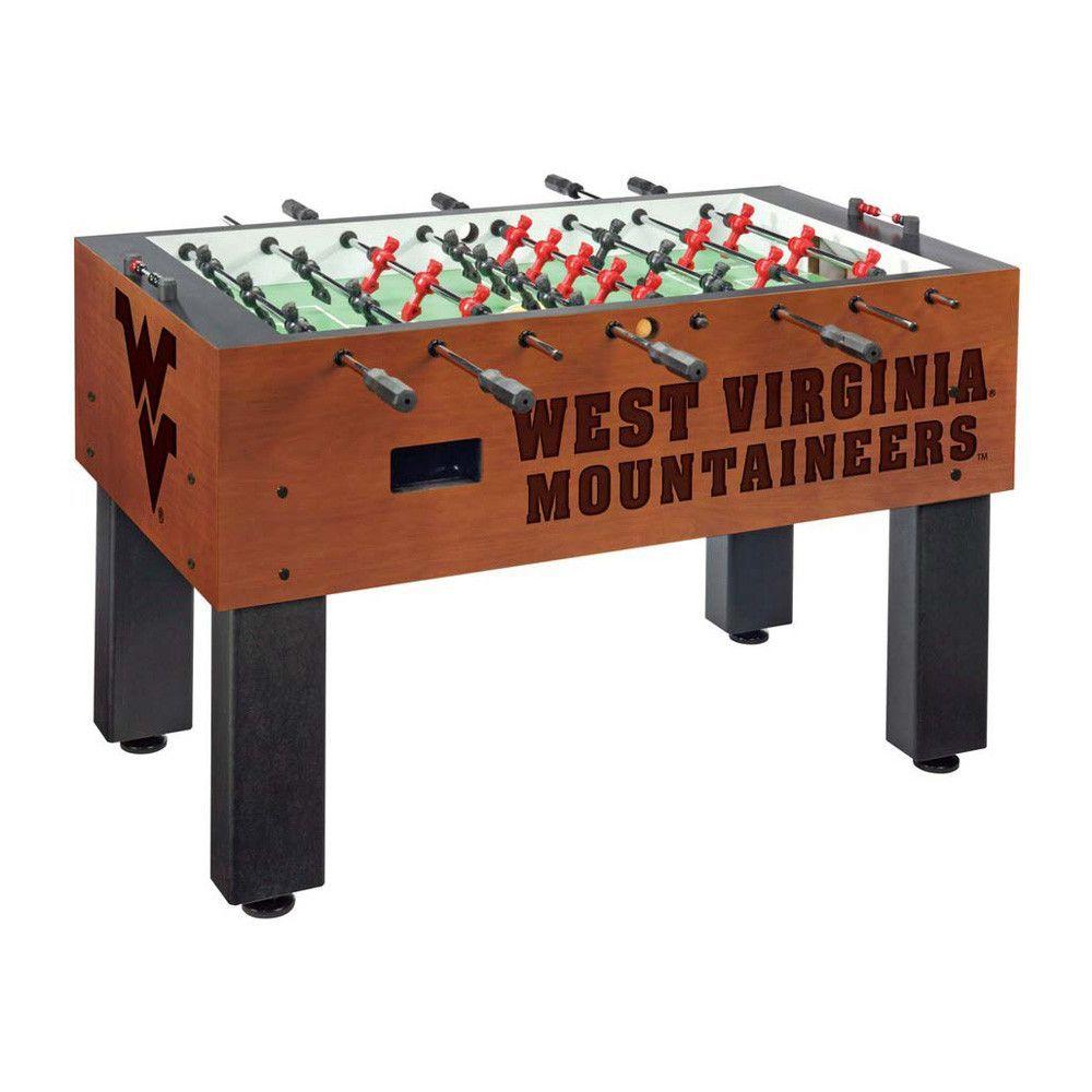 West Virginia Mountaineers Laser Engraved Foosball Table Soccer