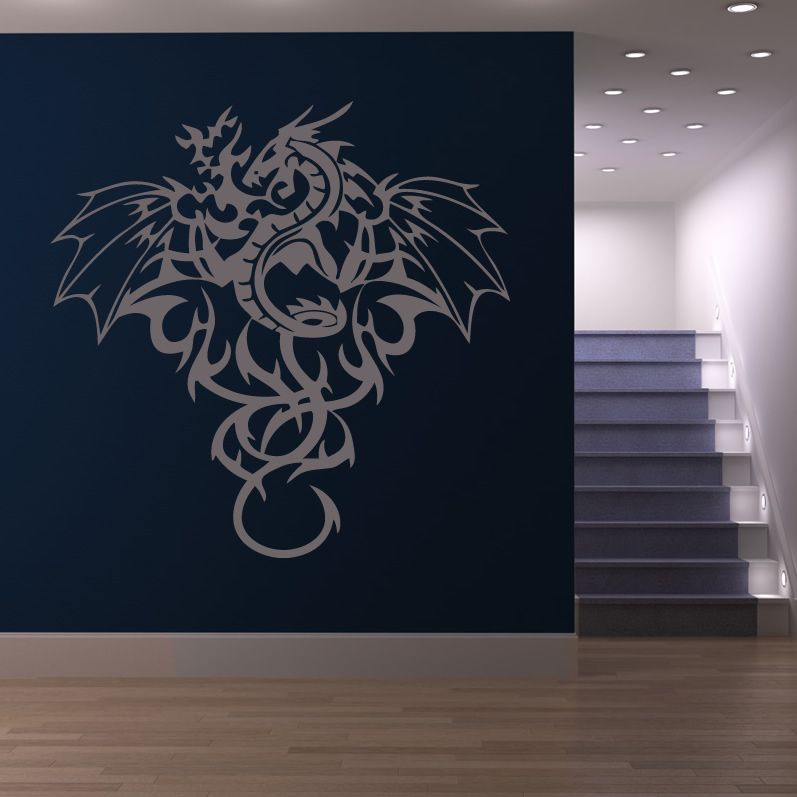 Dragon Wall Decals | Full Dragon Mythical Creatures Wall Art Stickers Wall  Decals Transfers #dragonwalldecals