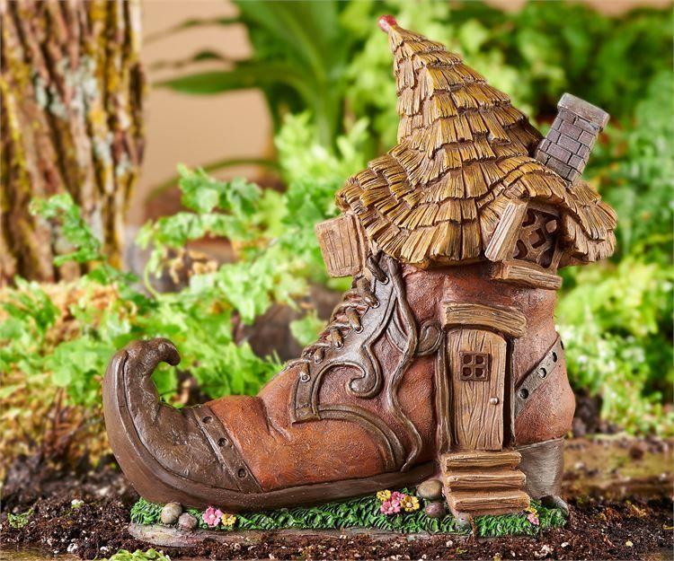 Miniature Dollhouse FAIRY GARDEN ~ Pixie ENCHANTED FOREST Shoe House Cottage NEW