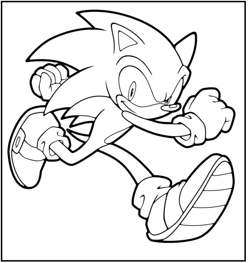 Sonic Picture Boys coloring picture for kids | Sonic The Hedgehog ...