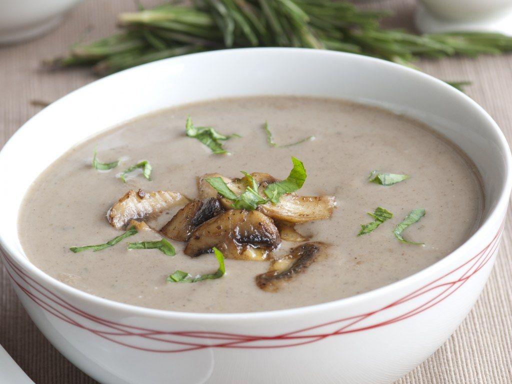 soupe de champignons de paris recette bouillon de. Black Bedroom Furniture Sets. Home Design Ideas