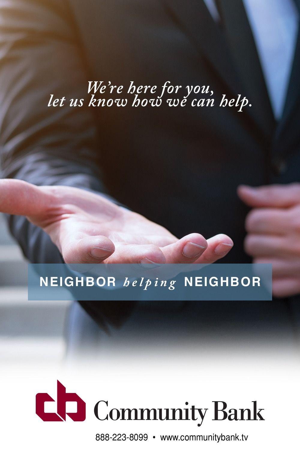Community BankNeighbor Helping Neighbor in 2020