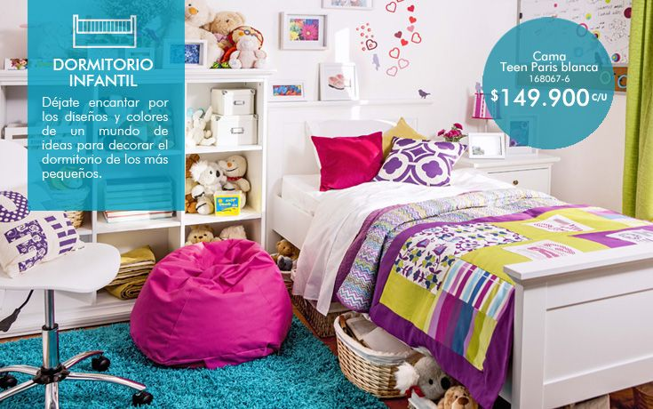 Cama Teen Paris blanco