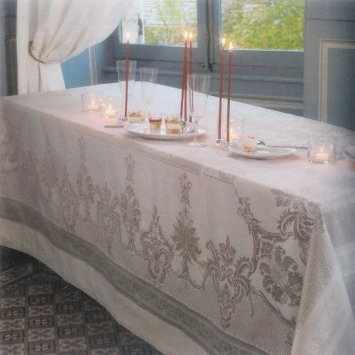 Garnier Thiebaut Tablecloth - Renaissance Sable (Sand) 184x250cm by French Dressing