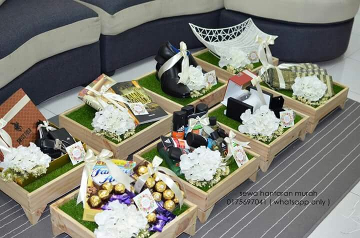Hantaran Wedding Gift Boxes Pallet Wedding Wedding Gifts Packaging