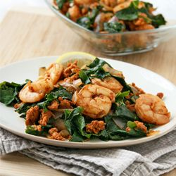 Easy 30-minute meal that is packed with protein and sauteed greens. Delicious, clean, and healthy!