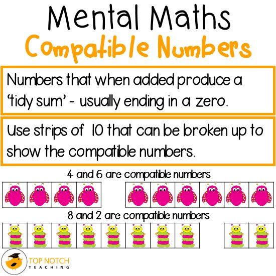Mental Maths Compatible Numbers Strategy – Compatible Numbers Worksheet