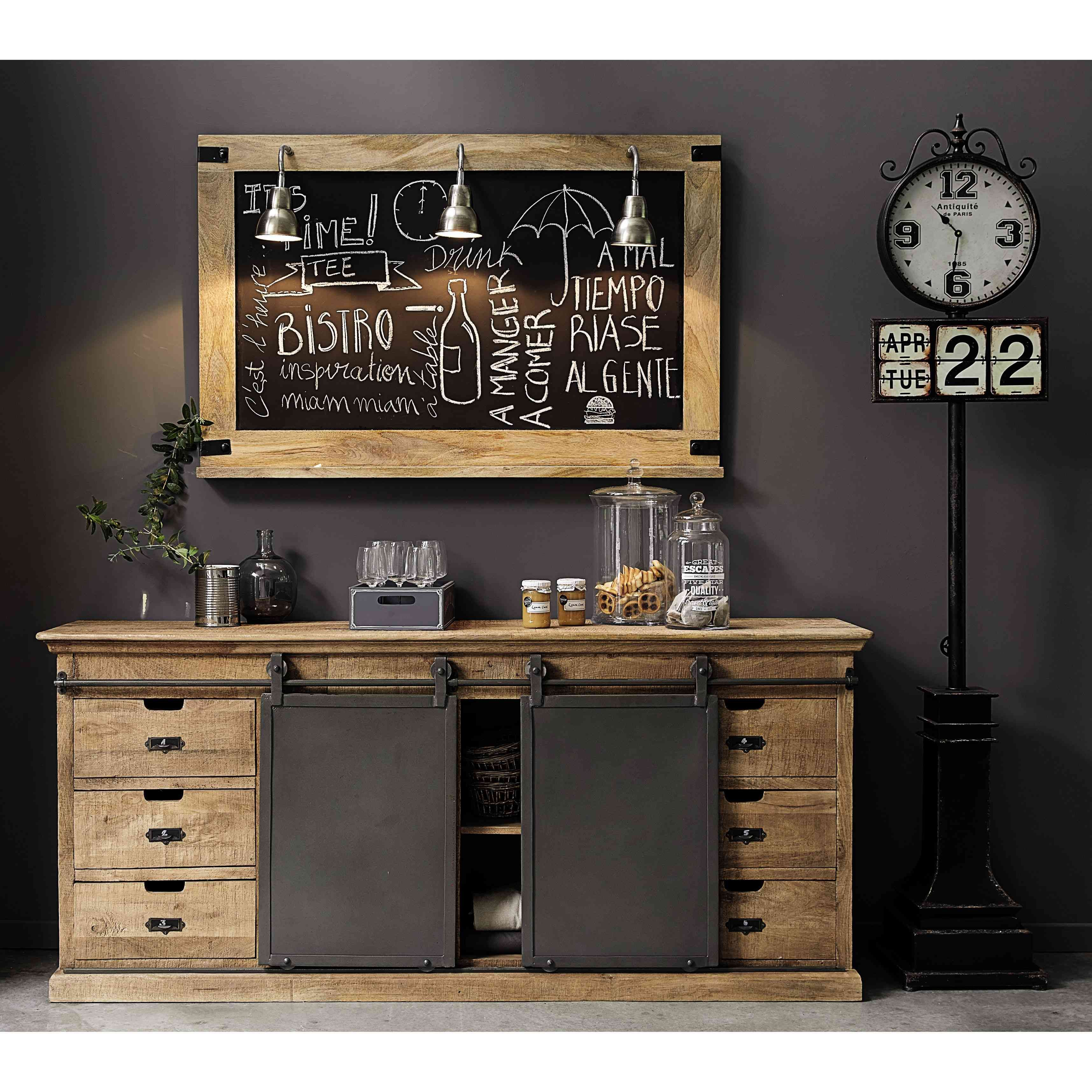 buffet en manguier massif maison du monde massif et le monde. Black Bedroom Furniture Sets. Home Design Ideas