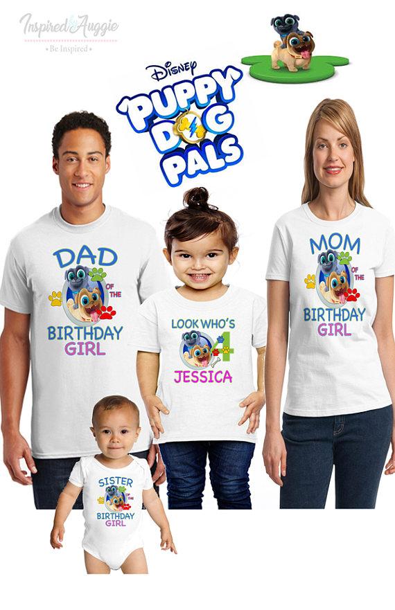 Puppy Dog Pals Birthday Shirt Puppy Dog Pals Family Birthday Etsy Lion King Birthday Family Birthday Shirts King Birthday