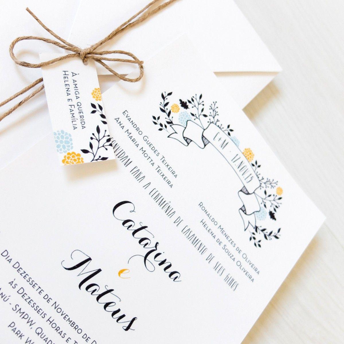 Os convites de casamento são a primeira impressão que os convidados terão da sua festa. Veja aqui todas as dicas essenciais e capriche na escolha do convite