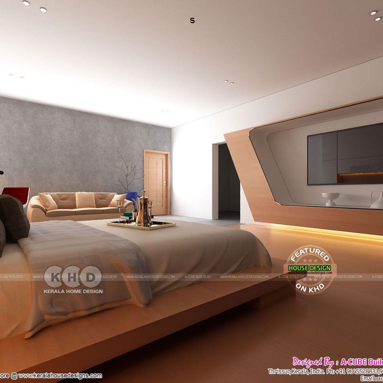 Master Bedroom And Stair Interior Interior Beautiful Interior