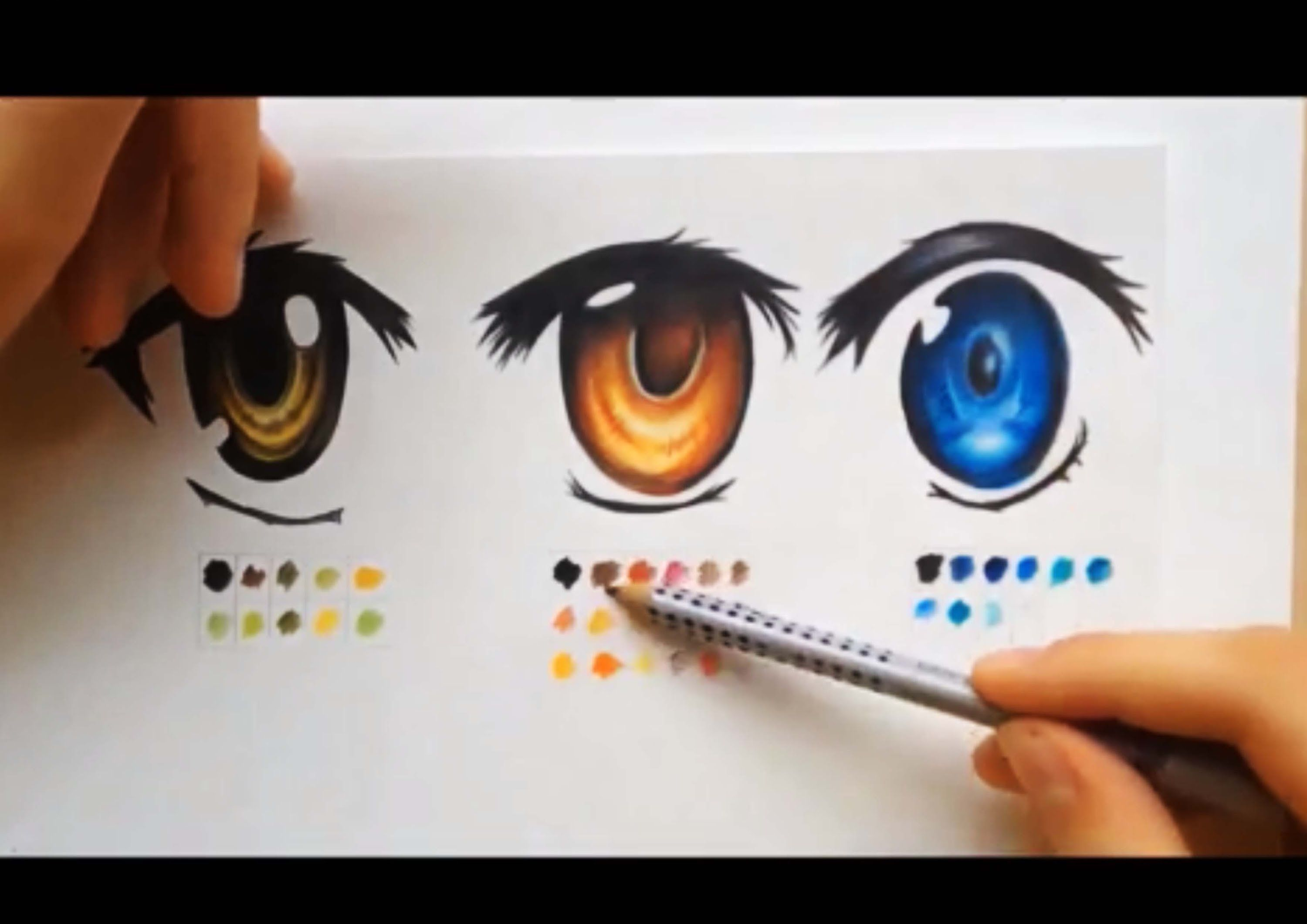 How To Color Using Colored Pencils Manga Eyes Anime Eyes Drawings Manga Eyes