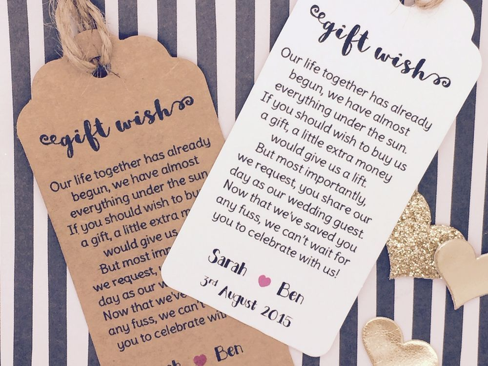 Asking For Gifts On Wedding Invitations: Details About Wedding Gift Wish Money Request Poem Card