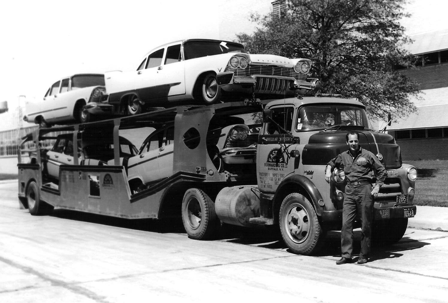 1956 Dodge Coe Car Hauler With 1957 Plymouths Car Haulers