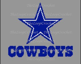 4137 Dallas Cowboys Afghan by CraftsbyRandC on Etsy