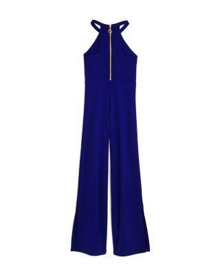 Sally Miller Girls' Jenny Slit Hem Jumpsuit - Big Kid - Sapphire #sallymiller