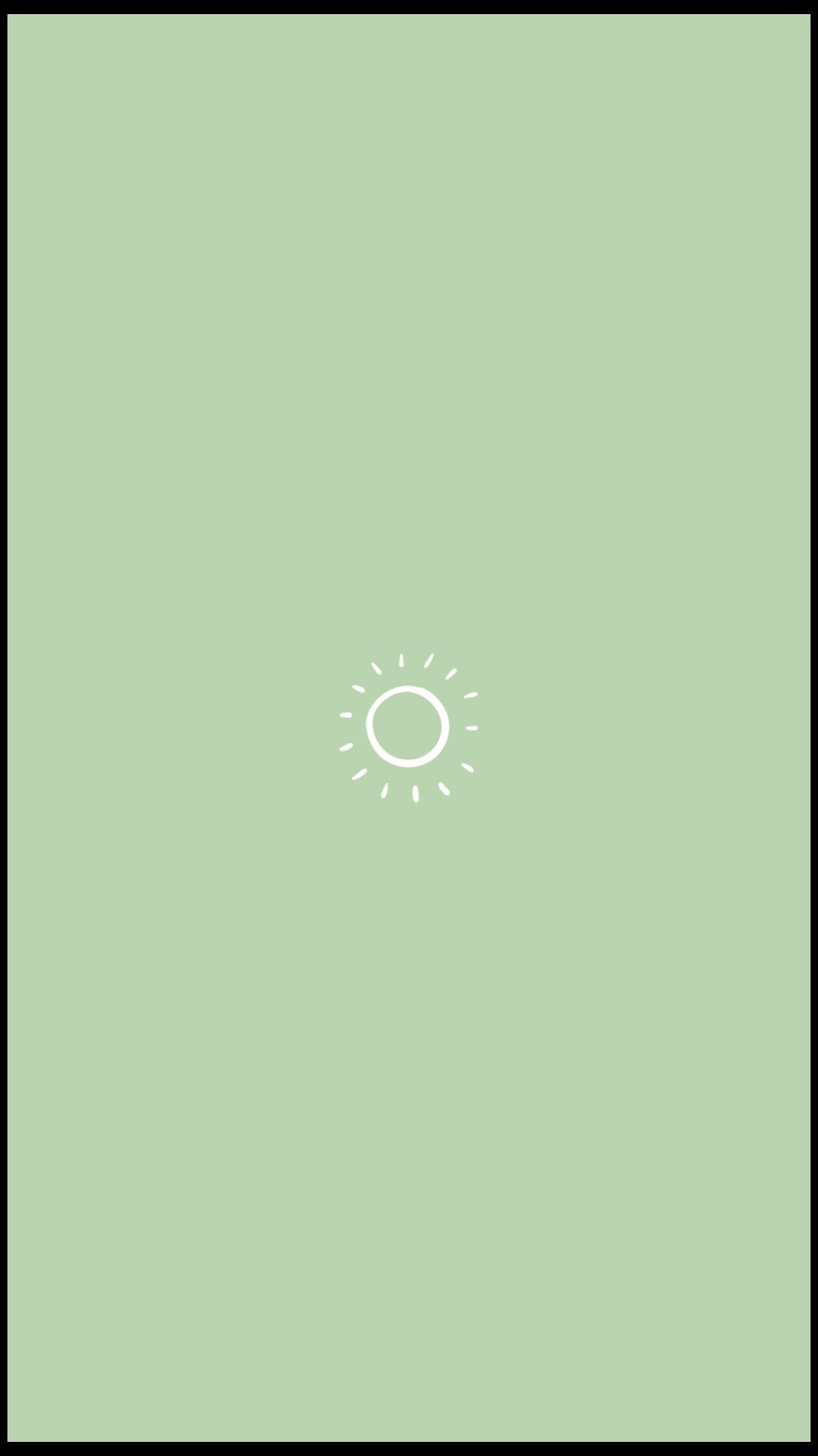 green minimalist wallpaper iphone