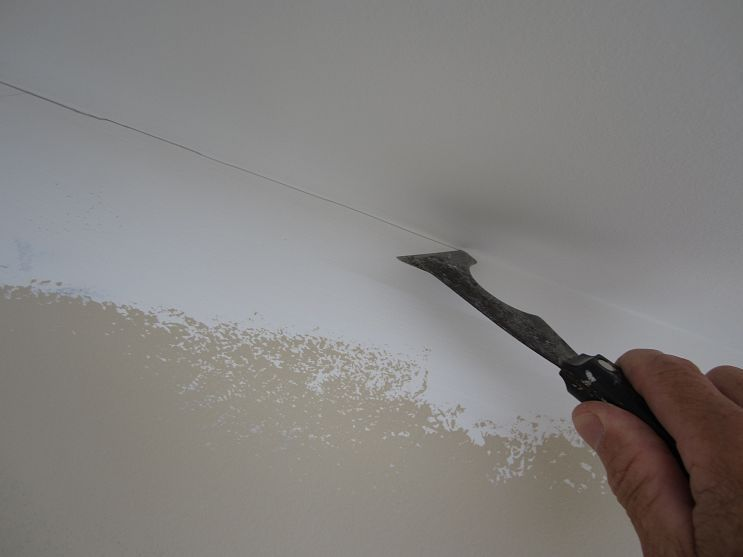 Painting a straight line at the ceiling trick Ceilings, Painting - Lessiver Un Mur Avant De Peindre