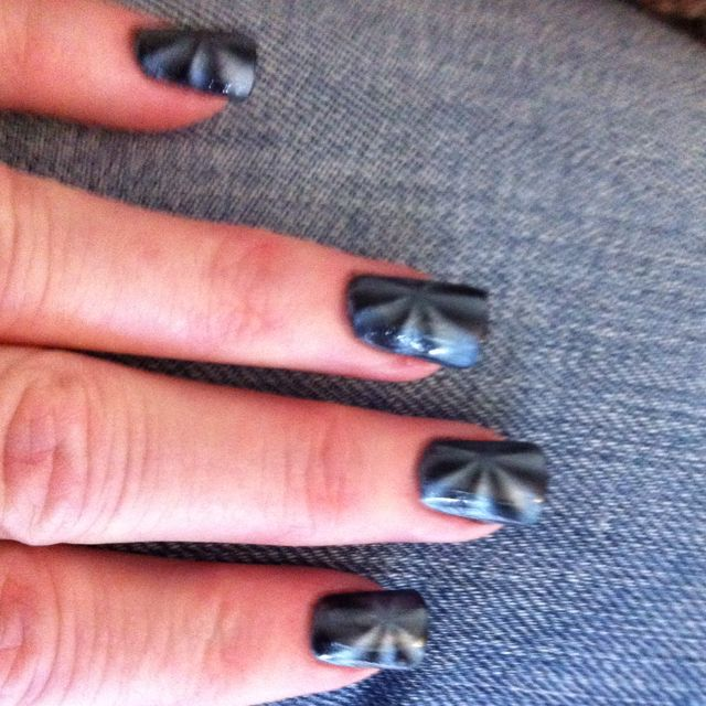 Used Maurice's magnetic nail polish and got this look! I love it and only 6 bucks!