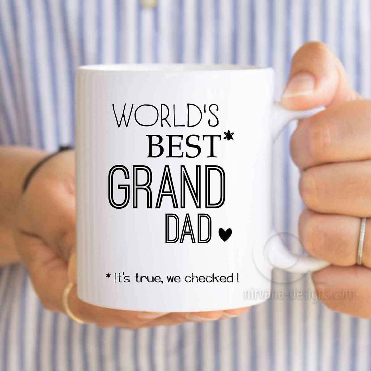 Fathers Day Gift Grandpa Worlds Best Grand Dad Birthday For To Be Personalized Grandfather MU551 By ArtRuss On Etsy