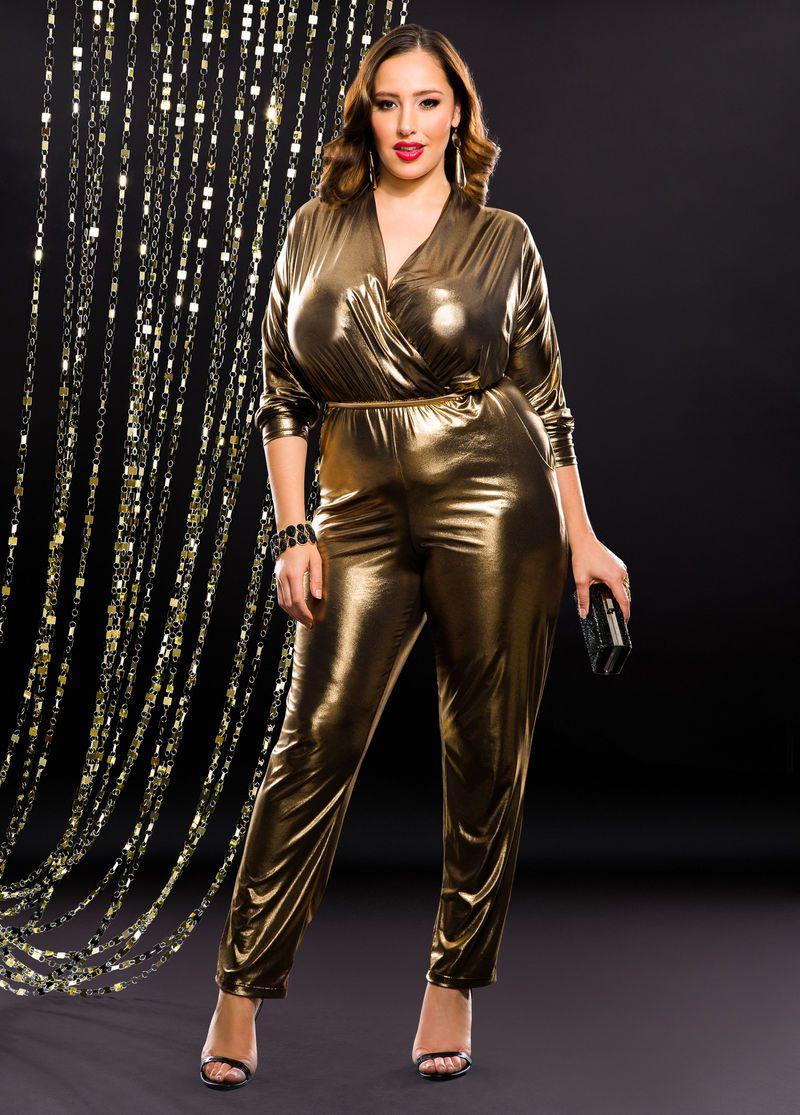Gold Jumpsuit Plus Size