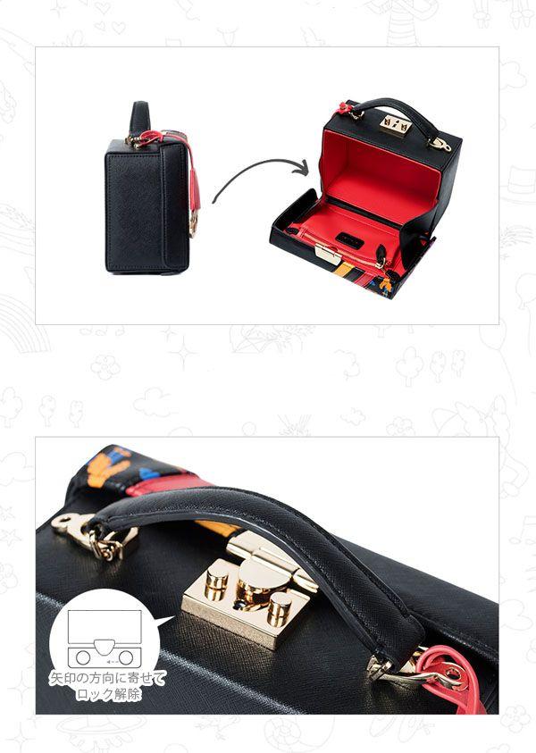 ショルダーバッグ ハンドバッグ ミニトランク ボックス 箱型タイプ ブレーメンの音楽隊 グリム童話 アニマル柄 レディース ショルダーバッグ ハンドバッグ バッグ